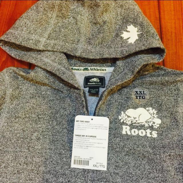 (新品出售) 加拿大ROOTS KIDS Logo長版鋪毛外套