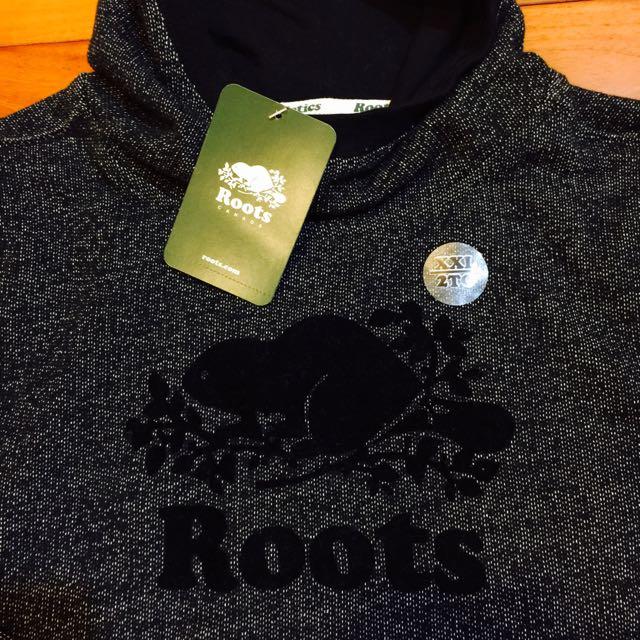 (新品出售) 加拿大ROOTS KIDS Logo鋪毛帽T