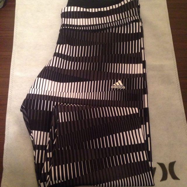 adidas運動彈性女生legging(二手)