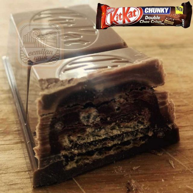 Cemilan Unik Nestle Kitkat Chunky Double Choc 52gr
