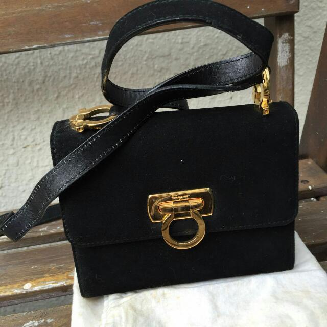 f7478ceb84 👜👜 Authentic Ferragamo suede bag 👜👜