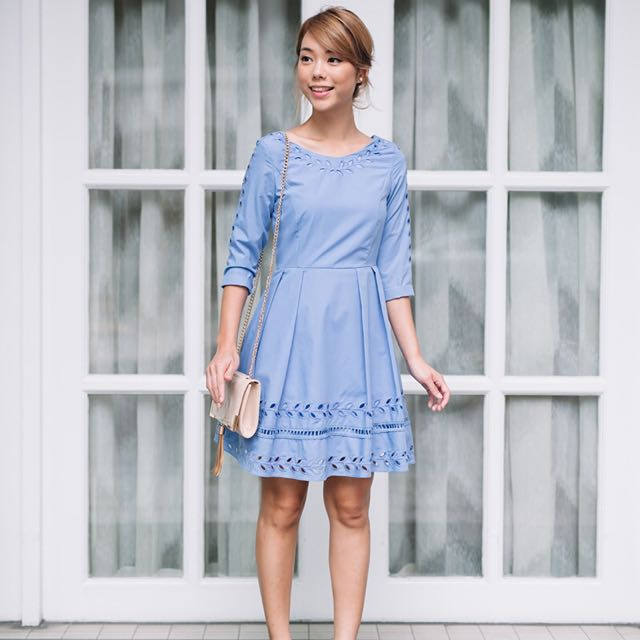 68d53f84c06 Laurel Garland Dress (Periwinkle) | Lolly Rouge, Women's Fashion on ...