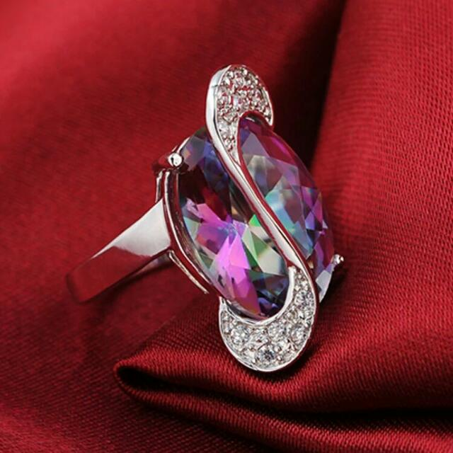 *Valentines Limited Time Only Sale!* Sterling Silver Rainbow Mystic Topaz Jewelry Set