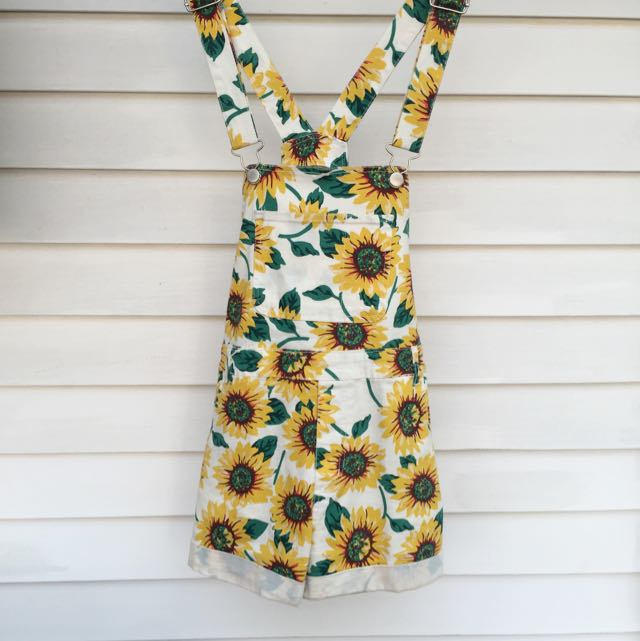 Sunflower Pattern Overalls