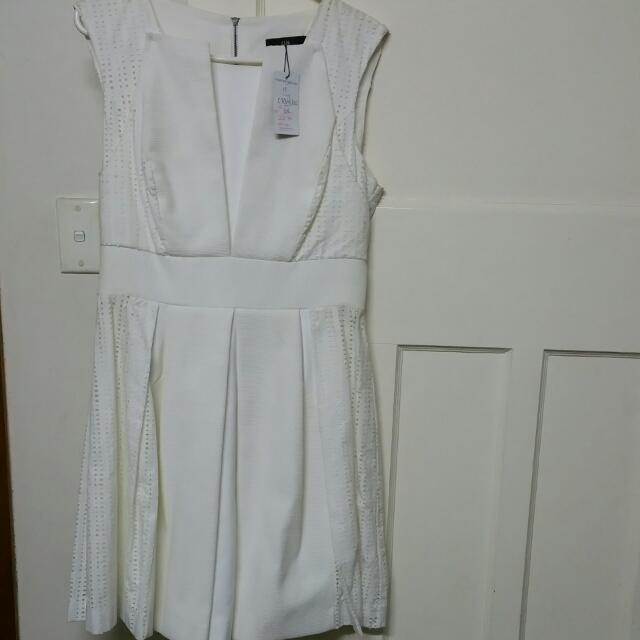White/cream Tunic Dress Cue Design