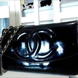 Chanel老香漆皮包