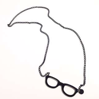 Hipster Glasses Necklace 頸鏈