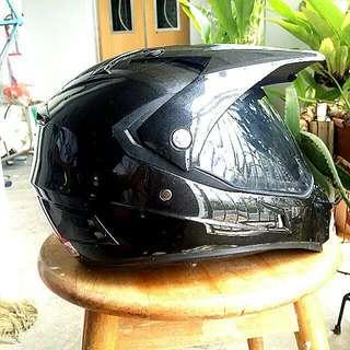 Selling TRAX dual Sport Helmet Metallic Black