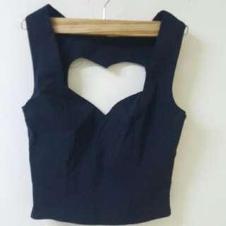 Love Heart Crop Top