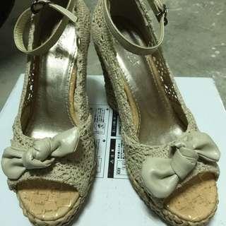 二手-amai楔形高跟涼鞋