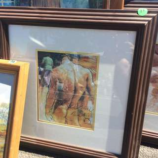 Naked Man Framed Painting