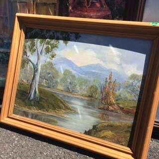 Hand Painted Australian Landscape