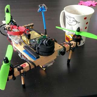 DIY mini A shape Tricopter Drone quadcopter miniquad