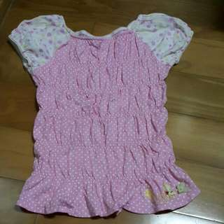 麗嬰房🐘甜美公主袖維尼童裝