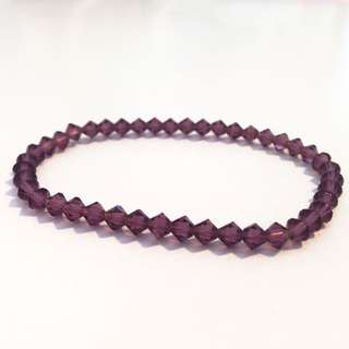 Deep Purple Faux Crystal Bracelet 手鐲
