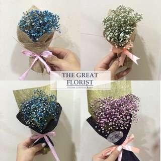 Mini Baby's Breath Valentine's Bouquet