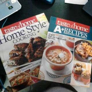 2 Taste Of Home Cookbooks