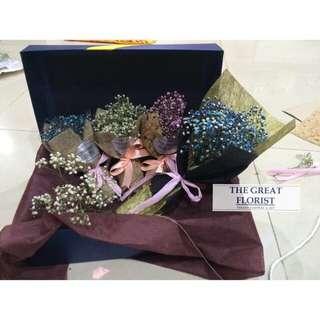 Mini Baby's Breath Bouquet In A Box