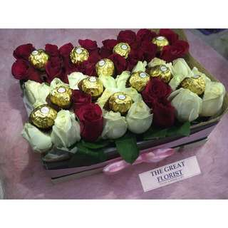 Fresh&Real Roses In A Box