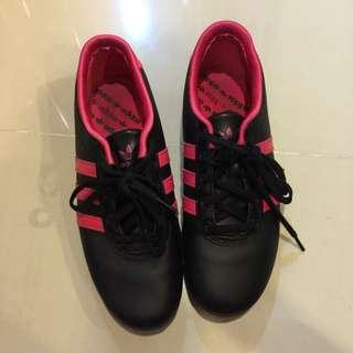 Adidas休閒鞋 近全新 23.5 38 慢跑鞋 桃紅色 黑色