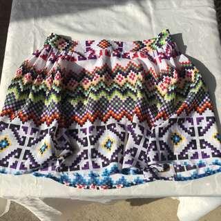 ASOS Pixel Print Skater Skirt!
