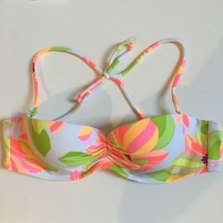 Victoria Secret Bandeau Floral Bikini Top