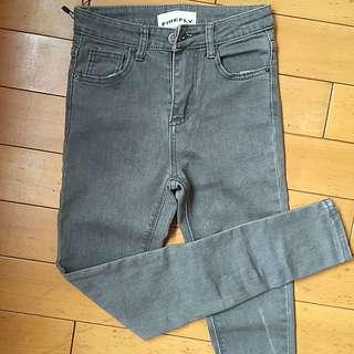 (保留中)Firefly淺灰色緊身牛仔褲 S