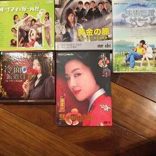 黃真伊、浪漫滿屋、黃金豬、冷面派遣員、我的女孩(全部正版DVD)