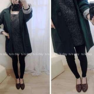 (降)綠色 西裝外套
