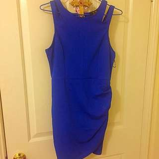 Blue Fitting Dress