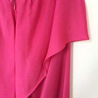 ZARA Silk Pink Cocktail Dress