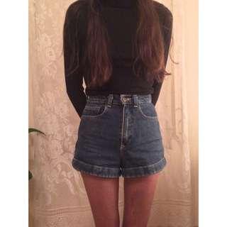 [PENDING]American Apparel High Waisted Denim Shorts