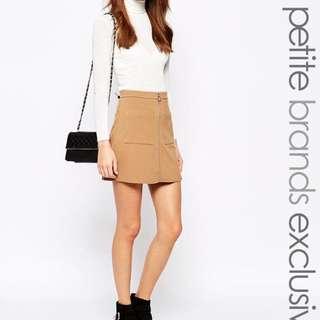 ASOS Light brown zip aline skirt #EASTER40
