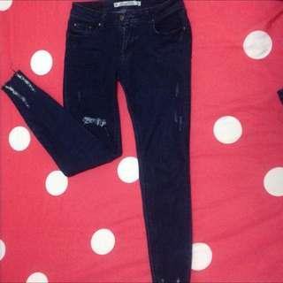 待面交💕26 S,M深藍牛仔褲💕(Lulus購入)超便宜長褲