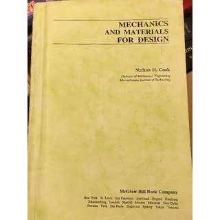 MECHANICS AND MATERIALS FOR DESIGN