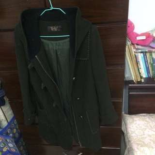 Veeko 34號 外套大衣 墨綠色