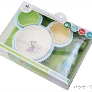 日本阿卡醬 迪士尼米奇 餐具六件組 盒裝嬰兒餐具 寶寶用品