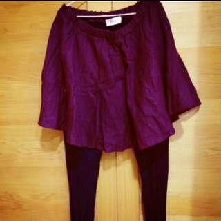 九成新酒紅褲裙
