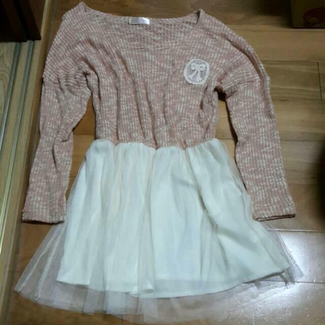 全新🎀雪紡裙針織小洋裝