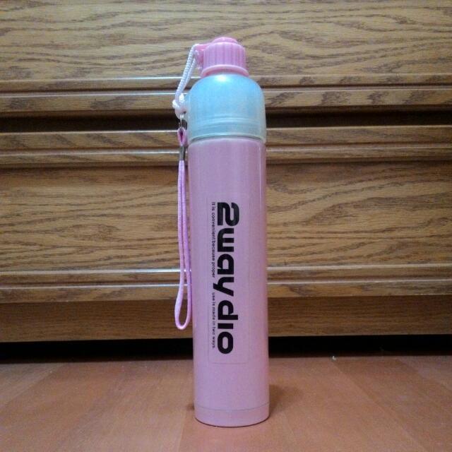 長型保溫水壺(粉紅色)