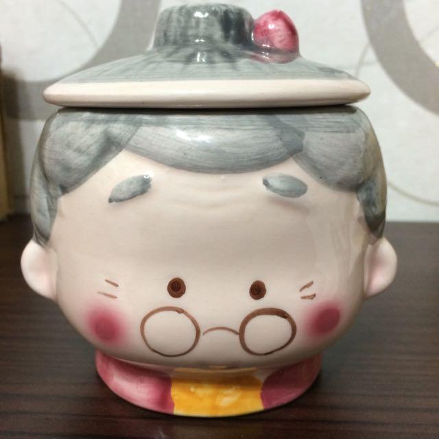 老奶奶 含蓋馬克杯