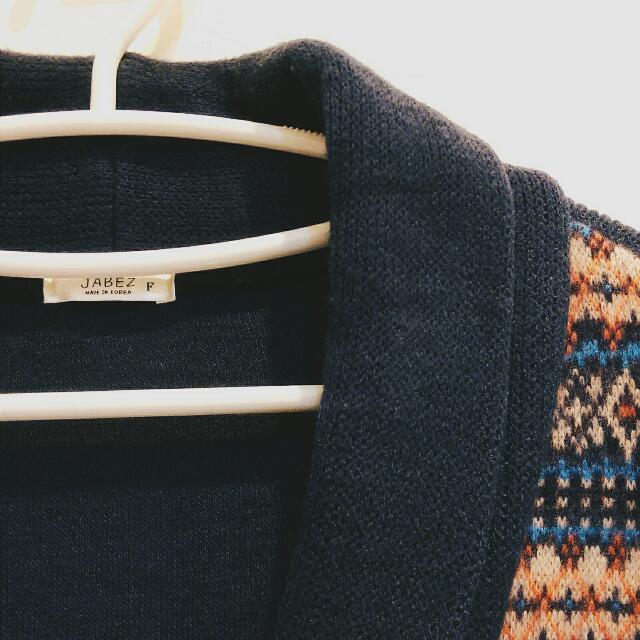 針織圖騰編織 外套