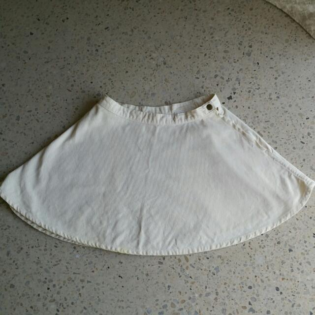 AA white Coudroy Circle Skirt