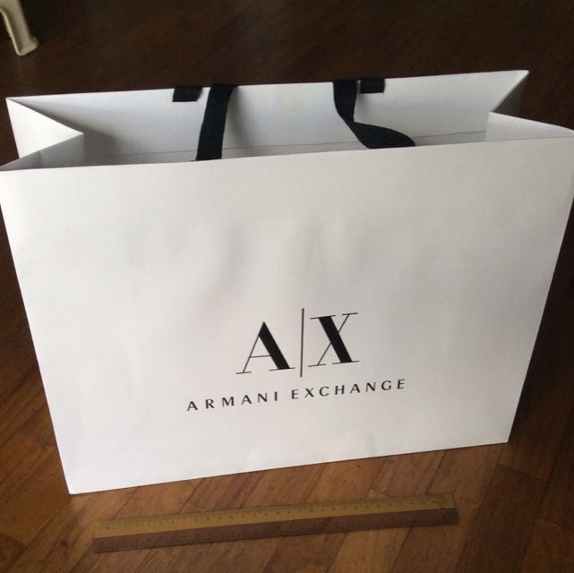 9cc566452164 Armani Exchange AX Medium Paper Bag Brand New