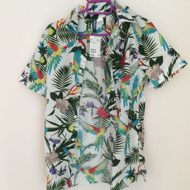 Brand New H&M Floral Polo