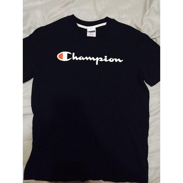 Champion黑色短袖T