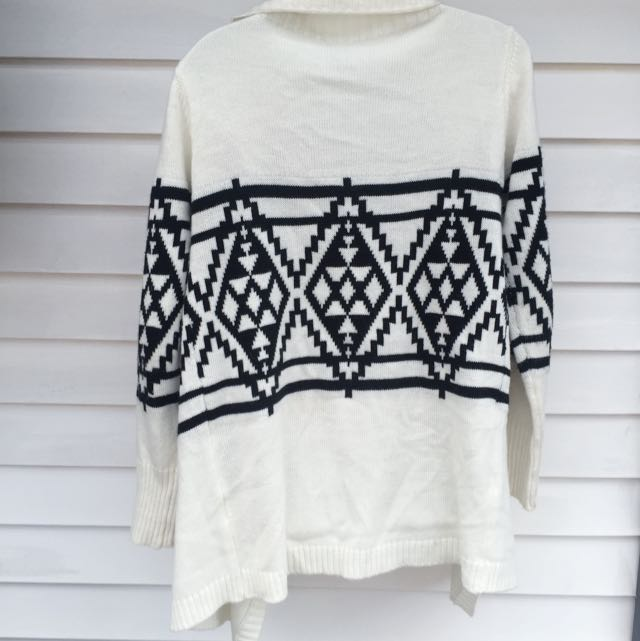 Cream and Black Knit