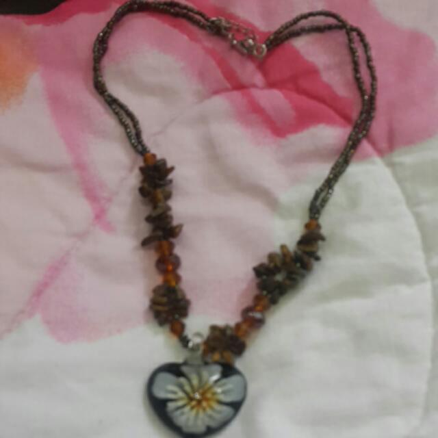 Dark Brown Crystal Neck Chain