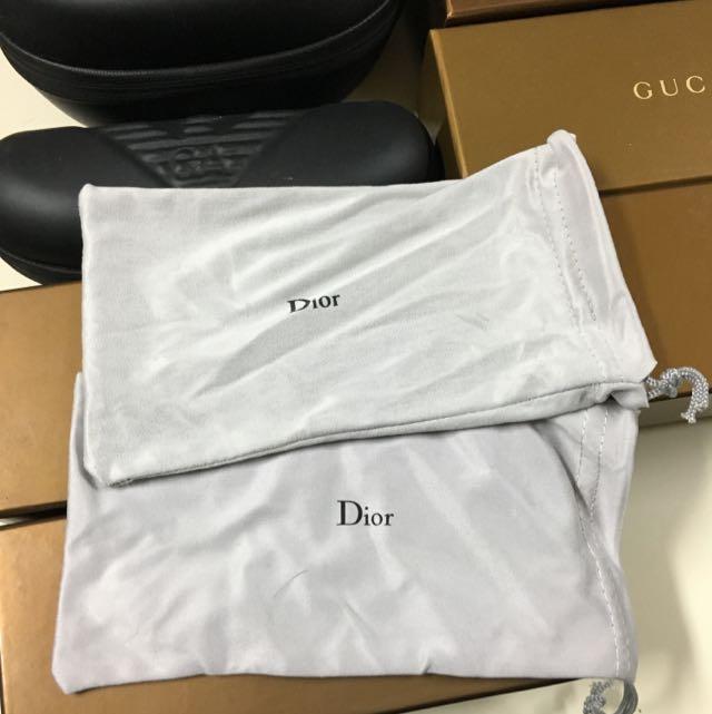 Dior眼鏡絨布套
