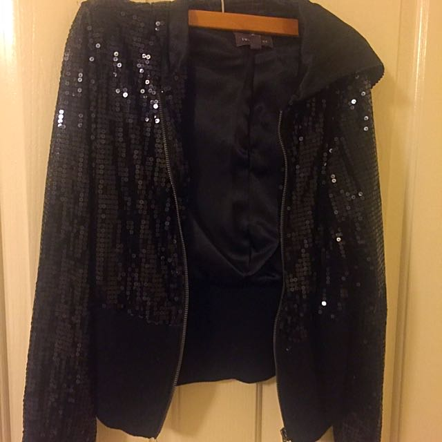 Forever 21 Black squined Hoodie